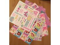 Stationery bundle Includes letter writing sets, stickers, scrapbooking material