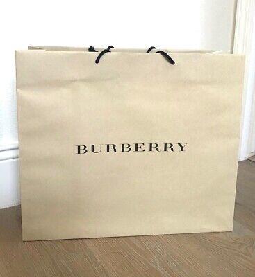 Burberry Paper Shopping Bag Large 12.5x14.5x4