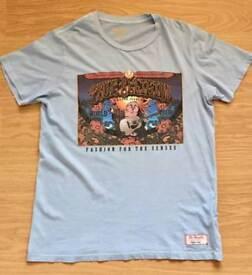 Brand new men's authentic vintage True Religion T-Shirt. Sky Blue. Large. RRP £70