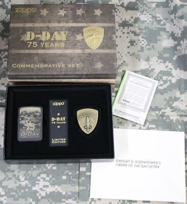 Zippo 75th Anniversary D-Day Limited Edition Lighter & Antiq