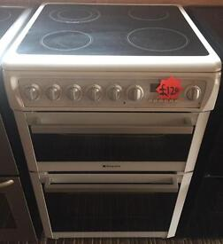 Refurbished hotpoint ew74 electric ceramic top cooker-3 months guarantee!