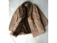 "LEATHER STYLE COAT Unused ........to fit man with 38 to 40"" chest"