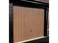 Up and Over Steel Brown Garage Door or 2 Garage Doors in Excellent Condition