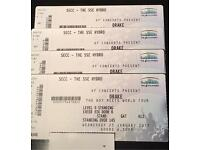 X4 Drake Standing Tickets DATED 22nd March SSE HYDRO