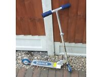 Child's Silver Scooter