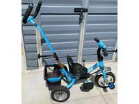 Blue Toddler's Trike with parent handle