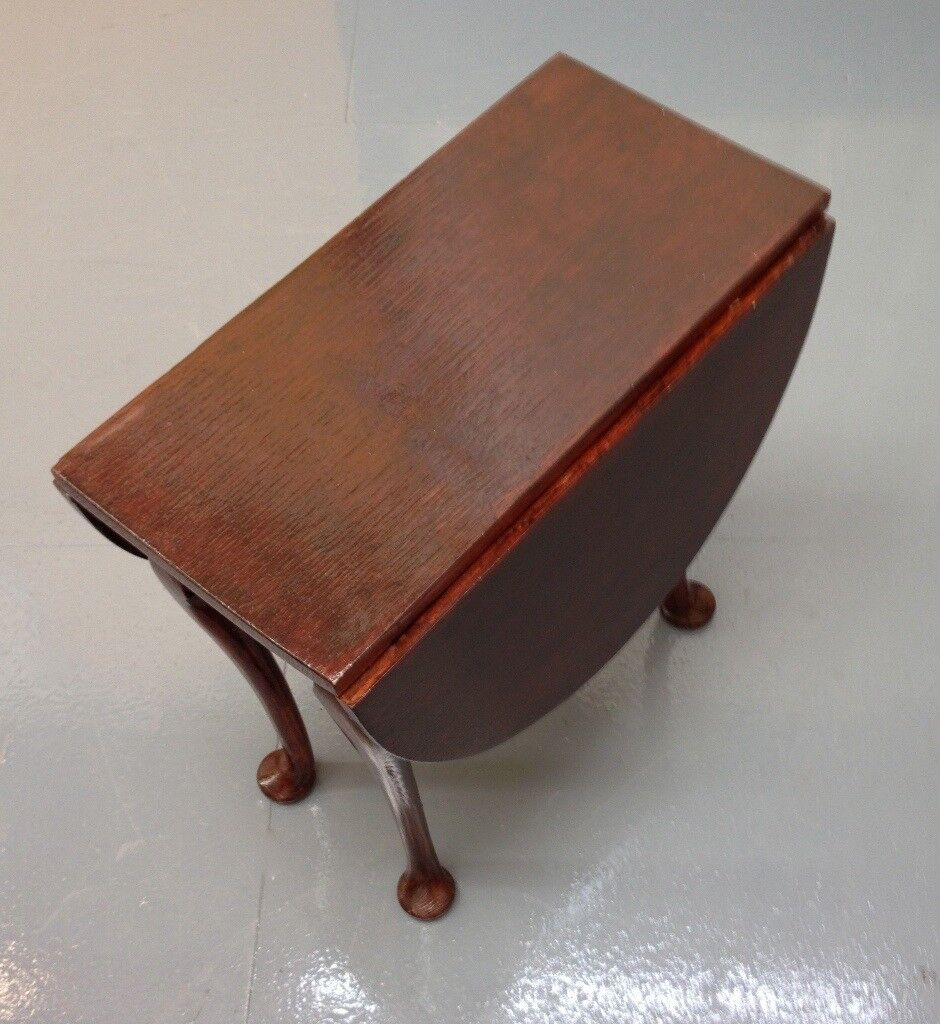 Small Wood Side Table with Drop Leaf
