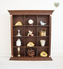 Vintage Wall Unit, Shelf Storage, 12 Compartment Unit, Freestanding or Wall Mounted, Pigeon Hole