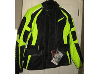 Richa Rix-2 fluorescent hiviz waterproof motorcycle jacket Large (UK 42)