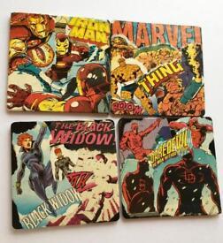 Handmade Marvel Comic Coasters