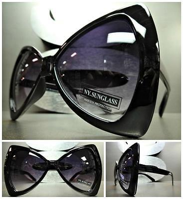 Übergröße Übertrieben Riesig Retro Sonnenbrille Große Schwarze Schleifen-Form