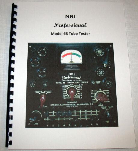 Manual Tube Charts Updates CHOOSE NRI 67 68 69 71 Tube Tester, has 6BQ5 EL34 etc