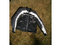 """Leather Motorcycle Jacket XL ( approx 42"""")"""