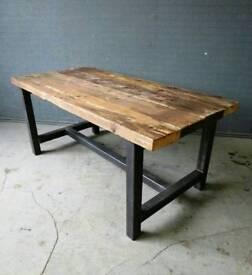 Handbuilt dining table sets