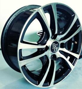 MAGS USAGÉS EN TRES BON ÉTAT 14'' 4 X 100 BAD BOY MACK BLACK MACHINED (ENSEMBLE DE 4)