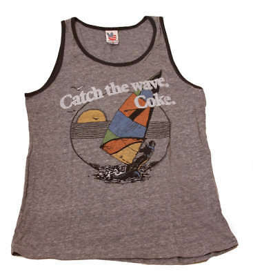 Junk Food Vintage Shirts (Junk Food Vintage Catch the Wave COKE Sleeveless Tank Top Shirt)