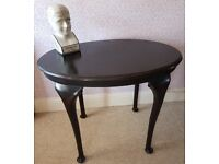 Vintage table - Queen Anne style ebonised finish