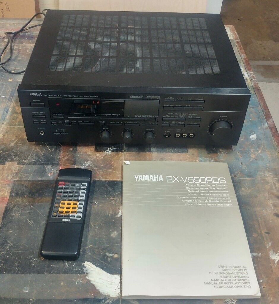 Yamaha Rx V590rds 5 Channel Amplifier Near Mint With Remote And Radio Control Instructions