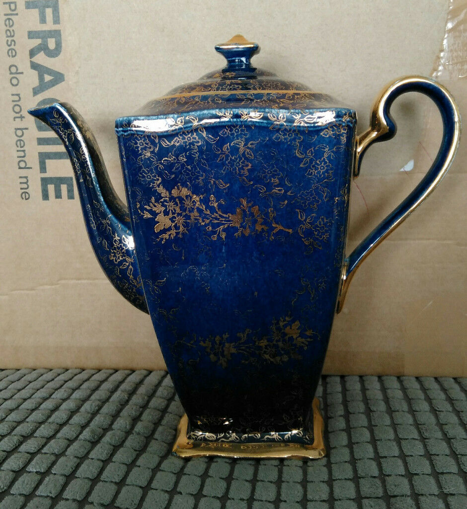 Royal winton grimwades ascot teacoffee pot bluegold in royal winton grimwades ascot teacoffee pot reviewsmspy