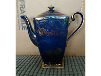 "Royal Winton Grimwades ""Ascot"" Tea/Coffee pot Blue/Gold"