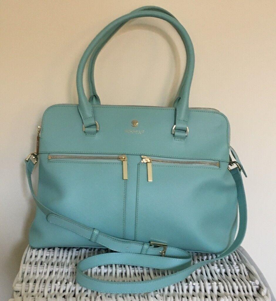 9398a3afc1 Modalu Pippa Classic Leather Handbag Aquamarine