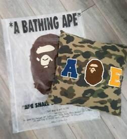 A bathing ape camo cushion green