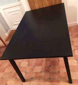 Ikea Tranetorp Black/Brown Extending Table FREE DELIVERY 368