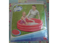 Bestway Splash and Play Paddling Pool 1.02m x H25cm Red 3 Ring *NEW*