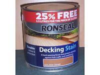 Ronseal Decking Stain - Golden Cedar 2.5 litres