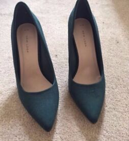 New Look Forest Green Shoes Stiletto Heels Size 6