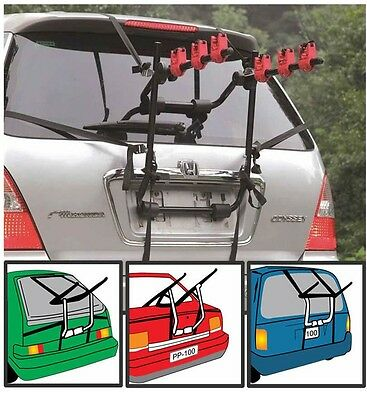 FORD MONDEO SALOON 00-07 3 BICYCLE REAR MOUNT CARRIER CAR RACK BIKE...