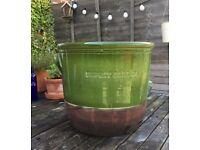 Beautiful large green garden plant pot planter indoor outdoor