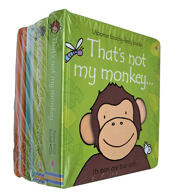 That's Not My Animals 4 Books Monkey Duck Lamb Fun Learning Board Nursery New