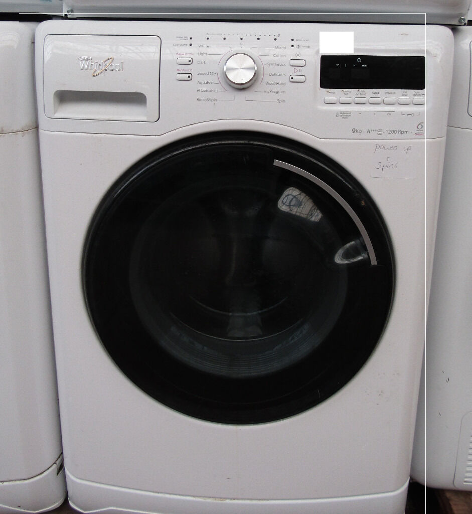whirlpool 9kg washer with 6th sense colour free delivery in preston lancashire gumtree. Black Bedroom Furniture Sets. Home Design Ideas