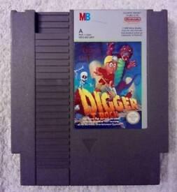 Nintendo NES Game Digger T Rock
