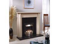 "56"" Fireplace surround, stone/marble"