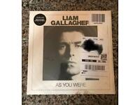 Liam Gallagher 'as you were' vinyl brand new, still sealed