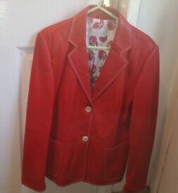 Red leather Prestige jacket