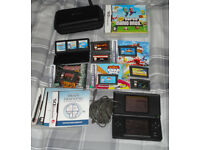Nintendo DS Lite Console + games Bundle inc. GBA Sonic Advance 3, R-Type III, New Super Mario Bros