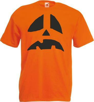 Adult Pumkin Costume (Kid Mens Womens Halloween T Shirt Costume Scarey Pumkin Fancy Dress Horror)