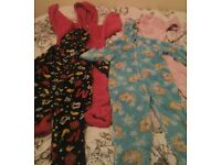Girls onesies aged between 3 years and 4-5 years