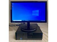 SSD Dell Optiplex I5 Quad Computer Desktop Pc & AOC 19 widescreen