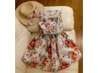 Beautiful girls Occasion dresses & matching hat! Perfect for Easter! Aged 5 yrs old.