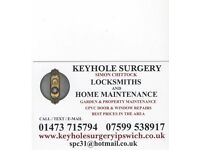 KEYHOLE SURGERY LOCKSMITHS - IPSWICH BASED - 01473 715794 - 07599 538917