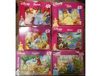 Six Kids / Children's Disney Princess Jigsaw Puzzles