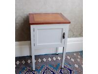 Small pretty bedside cupboard, upcycled, vintage.