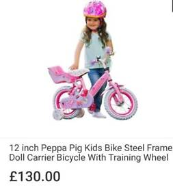 Kids 12 INCH, Peppa Pig Bicycle