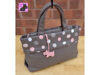 RADLEY - Medium Taupe Leather Spotty Tote Bag *Excellent Condition*