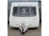 SWIFT CONQUEROR 540 2009 *FIXED BED* 4 BERTH CARAVAN