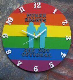 Handmade wood wall clock